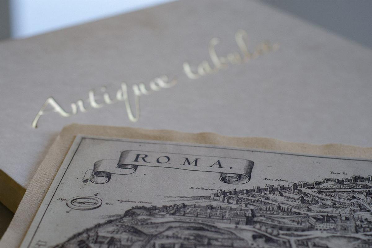 Mappa in tela Antiquae tabulae - Editalia